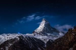 Full moon at Matterhorn by 1x