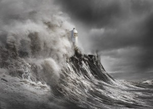 Drama at the lighthouse by 1x