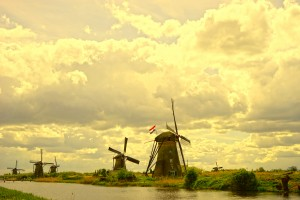 Windmills at Sunset  by 1North