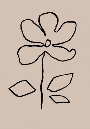 Oil Pastel Flower Black by 1x