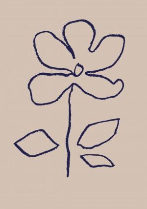 Oil Pastel Flower Blue by 1x