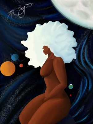 Afro Woman by Afrocentric Painter