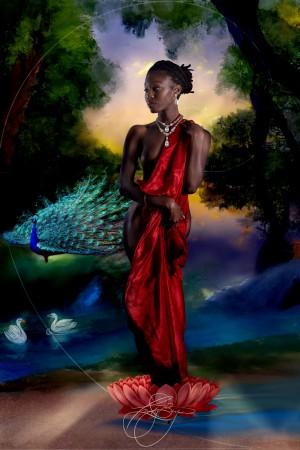 Renaissance Woman by Afrocentric Painter