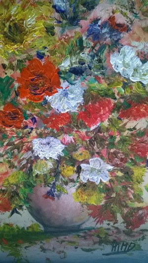 red flowers  by Ahmad ALMASRI