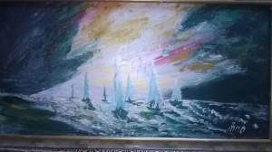 sail before storm by Ahmad ALMASRI