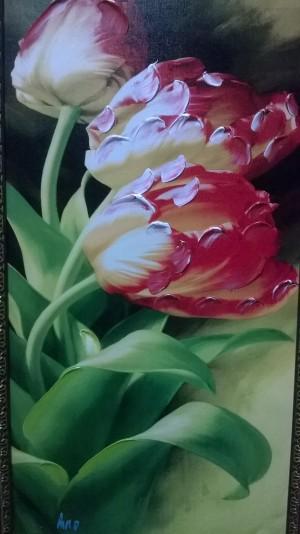 Red Love Flowers by Ahmad ALMASRI