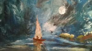 lost boat by Ahmad ALMASRI