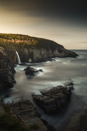 Pouch Cove Waterfall II by Alex Bihlo