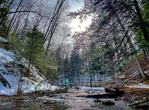 winter at Weavers Creek by Amber Vee Photography