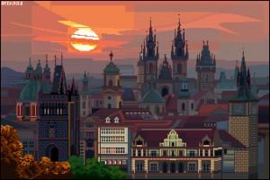 prague skyline by Archipicsstore