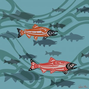 Almost_There_Salmon by Arlene Ness