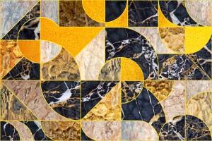Geometric Marble I - Horizontal by Art Design Works