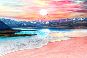 Surreal Sunset by Art Design Works