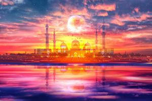 Surreal Taj Mahal by Art Design Works