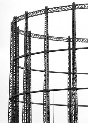 Gas holder by Attila R  Kovacs