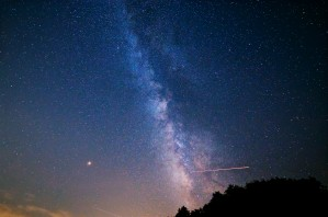 Milky Way over Blue Ridge Parkway by BJMRamage