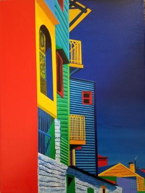 lA Boca Color and Shapes by Bella Visat Artist