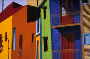 La Boca  Buenos Aires Street Scape by Bella Visat Artist