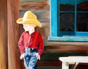 I AM a Cowboy by Bella Visat Artist