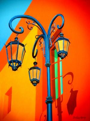 La Boca Lamp Shadows II by Bella Visat Artist