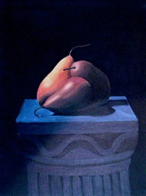 Pears on on a Pedestal by Bella Visat Artist