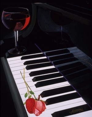WINE & ROSES by Bella Visat Artist