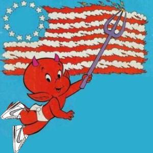 Americanflag devil by Betojimenez