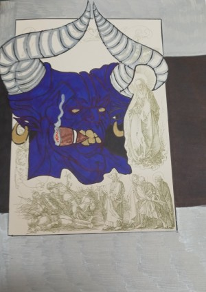 Devil blue smoke silver and black by Betojimenez