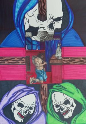 La santa muerte devotees by Betojimenez