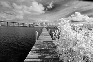 Wabasso Causeway Florida with boat dock by Bob Barbour