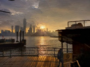 NYSunset by Brian Fang