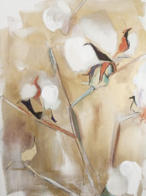 Louisiana Cotton with Metallic Gold  by Caroline Youngblood