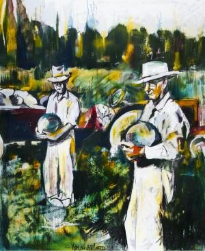 Louisiana Melon Farmers 1958 by Caroline Youngblood