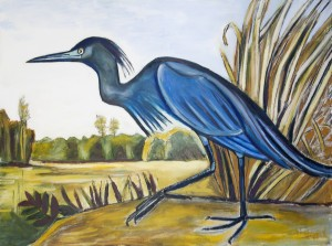 Louisiana Little Blue Heron by Caroline Youngblood