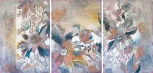 Riverton Wallpaper Tracings Triptych by Caroline Youngblood