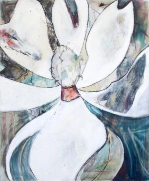Neutral Cubist Magnolia by Caroline Youngblood