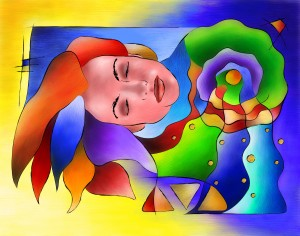 Fasettonia - colourful spirit by Cersatti Art