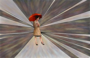 Limessia - beauty with umbrella by Cersatti Art