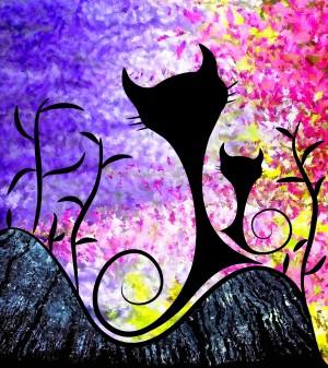 Messemios - black cats by Cersatti Art