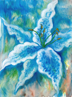 Blue Lily by Christopher Chamberlain