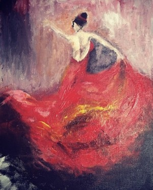 Dancer in Red  by Clara