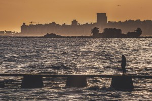 Cityscape Coastal Scene Montevideo Uruguay by Daniel Ferreia Leites Ciccarino