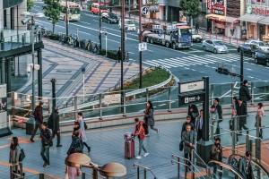 Crowded Urban Scene  Osaka Japan by Daniel Ferreia Leites Ciccarino