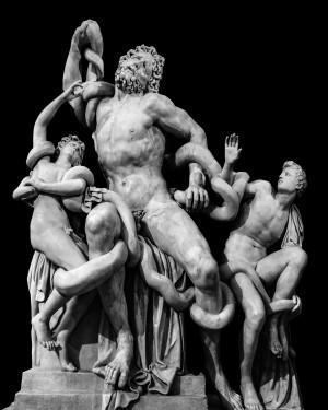 LaocoonSculptureOverBlack2 by Daniel Ferreia Leites Ciccarino
