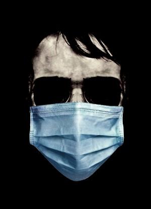 SkullwithMaskFaceScaryPoster by Daniel Ferreia Leites Ciccarino