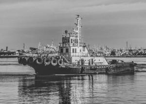 TugboatatPortMontevideoUruguay by Daniel Ferreia Leites Ciccarino