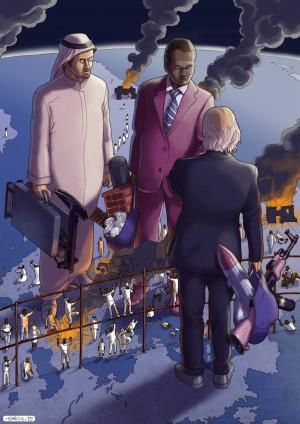 War and Business by Daniel Garcia Art