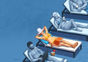 Phone Free Vacations by Daniel Garcia Art
