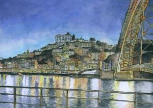 Oporto Watercolor by Daniel Garcia Art