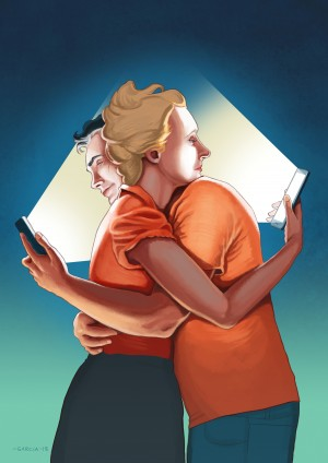 Smartphone Relationships by Daniel Garcia Art
